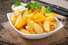 stekte potatiswedges Royaltyfri Fotografi