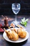 Stekte quail royaltyfri foto