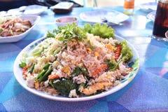 Stekte ris i maträtt Royaltyfri Fotografi