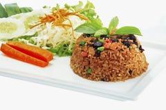 Stekte ris med chili och nötkött Royaltyfri Bild