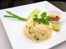 Stekte ris med crabmeat Arkivbilder