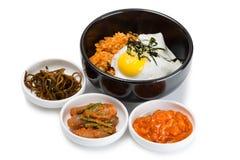 Stekte ris med kimchi Royaltyfria Bilder