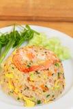 Stekte ris med räka Royaltyfri Bild