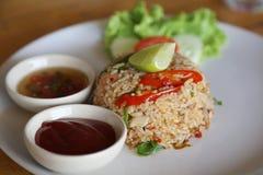 Stekte ris, Thaifood Arkivbild