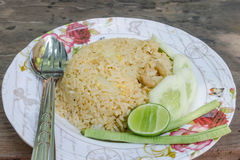 Stekte ris, thailändsk kokkonst arkivfoton
