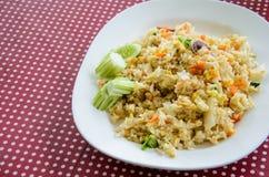 Stekte ris, thailändska foods Royaltyfria Foton
