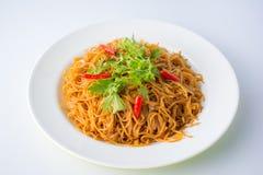 Stekte risvermicellis Berömd kinesisk mat Fotografering för Bildbyråer