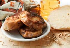 stekte rostat bröd Royaltyfri Foto
