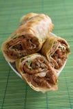 stekte rullar för nötkött kines Royaltyfri Fotografi