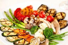 stekte smakliga grönsaker Arkivfoto