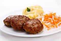 stekte steaks Arkivbild