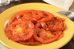 stekte tomater Arkivbild