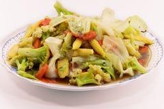 Stekte under omrörning blandade grönsaker Royaltyfria Foton
