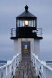 Stel de Vuurtoren van het Punt, Maine, de V.S. op Stock Foto