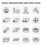 Stel Metal Icon Photo stock
