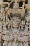 Stela Β, που χαράζεται στο εναλλασσόμενο ρεύμα 731, επί του εντυπωσιακού των Μάγια archeological τόπου Copan, την Ονδούρα Στοκ εικόνες με δικαίωμα ελεύθερης χρήσης