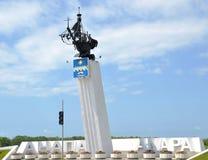 Stela курортного города Anapa, комплекта на трассе Anapa-Kerch на выходе авиапорта Стоковое Фото