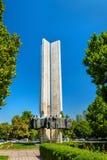Stela de l'amitié de nations à Bichkek, Kirghizistan images stock