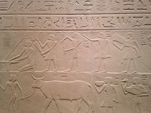 Stela of the Overseer of the Fortress Intef at Metropolitan Museum of Art. Stock Photo