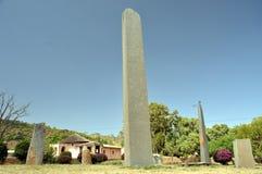 Stela przy Axum w Etiopia Obrazy Stock