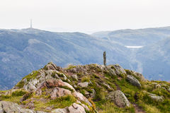Stelai at the top of the mountain. In Norway Royalty Free Stock Images