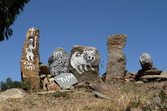 Stele of Aksum in Ethiopia. The stele of Aksum in Ethiopia Stock Photos