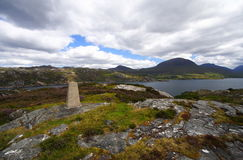 Stele And Landscape Of The Highlands Stock Photos
