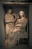 Stele de Demetria et de Pamphile, Kerameikos, Athènes, Grèce Photos libres de droits