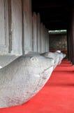 Stele de piedra de la tortuga, templo de la literatura. Hanoi, Vietnam fotografía de archivo