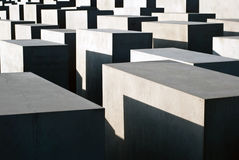 Stele field in Berlin. The stele field in Berlin background Stock Photos