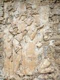 Stele i El Palacio Palenque Arkivbild