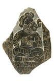 Stele maya d'isolement avec le chemin de découpage Photographie stock libre de droits