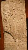 Stele maya de bas-relief Photographie stock libre de droits