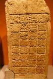 Stele Mayan di bas-relief fotografia stock libera da diritti