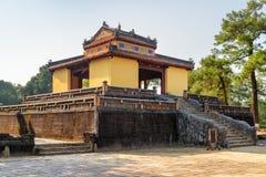 Stele Pavilion (Bi Dinh), the Minh Mang Tomb. Hue, Vietnam. Scenic view of Stele Pavilion (Bi Dinh) at the Minh Mang Tomb in Hue, Vietnam. Hue is a popular royalty free stock photography