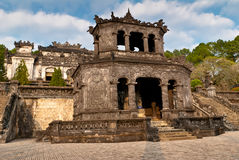Stele Pavilion in Khai Dinh Tomb, Hue, Vietnam Stock Photo