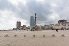 Steli Morska chwała Rosja forum kwadrat, bulwar Admiral Serebryakov w mieście Novorossiysk Obrazy Royalty Free