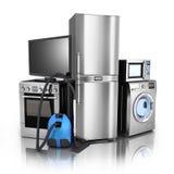 Stell di prodotti elettronici di consumo Fotografie Stock Libere da Diritti