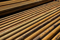 Stell pipe for drilling Stock Photography