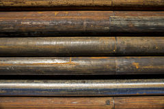 Stell pipe for drilling Royalty Free Stock Photography
