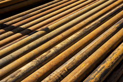 Stell pipe for drilling Royalty Free Stock Image