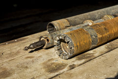 Stell pipe for drilling Stock Photo