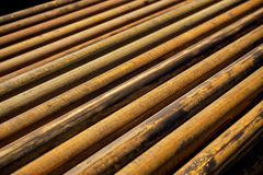Stell pipe for drilling Stock Images