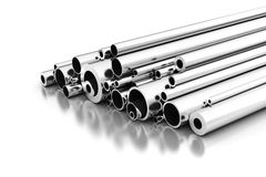 Stell Pipes stock image