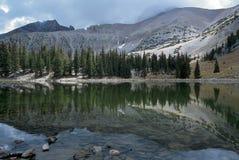 Stella湖在大盆地国家公园,内华达 库存图片