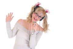 Stella adolescente del cantante Immagini Stock