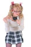 Stella adolescente del cantante Immagine Stock Libera da Diritti