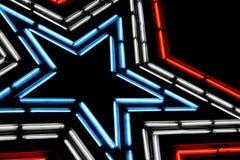 stella al neon fotografie stock