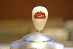 Stella Artois Beer Tap Royalty Free Stock Photography