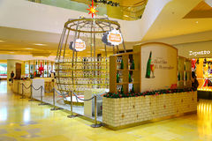 Stella artois christmas pop up store at pacific place hong kong Royalty Free Stock Photo